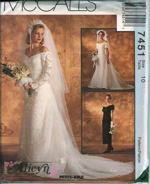 7451 Uncut Vintage McCalls Sewing Pattern Wedding Bridal Gown ...