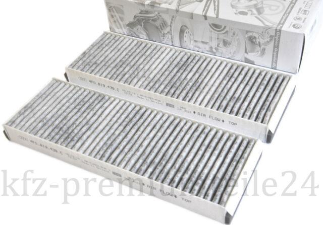 NEU Original Audi RS6 S6 A6 4F Pollenfilter Aktivkohle Innenraum Filter Luftfilt