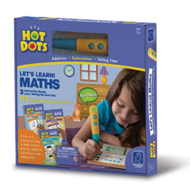 Hot Dots Let's Learn! Maths Books and Pen Set, Self -Checking Learning Books