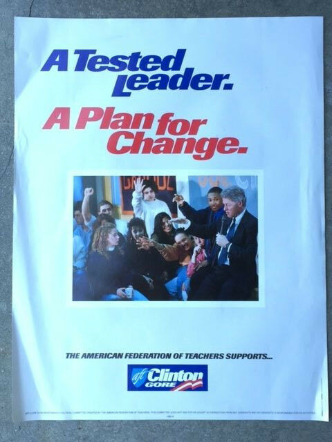 political campaign poster american federation of teachers bill