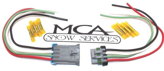 buyers saltdogg wire harness repair connector plug spreader salter 4 rh ebay com Ford Wiring Harness Connectors OEM Wiring Harness Connectors