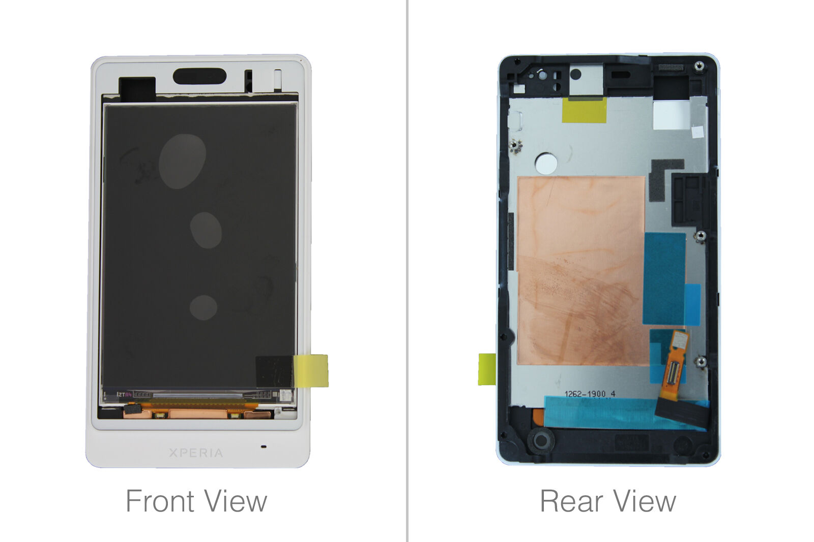 Genuine Sony St27i Xperia Go White LCD Screen With Frame - 1264-8198 ...