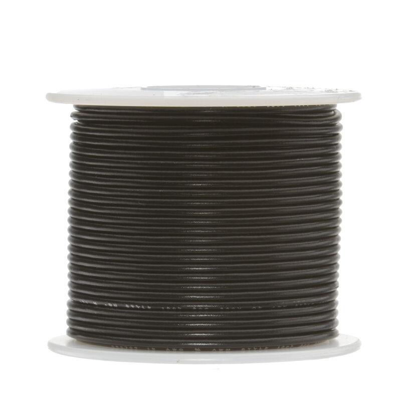 18 AWG Gauge Solid Hook up Wire Black 100 FT 0.0403\