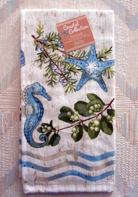 kay dee designs kitchen towels. Sea Horses Starfish Terry Towel Kay Dee Ocean Tide Pattern Designs Kitchen Printed R3070  EBay