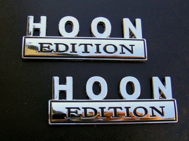 HOON EDITION PAIR CAR BADGES Chrome Metal Emblems *NEW* suit HOLDEN COMMODORE