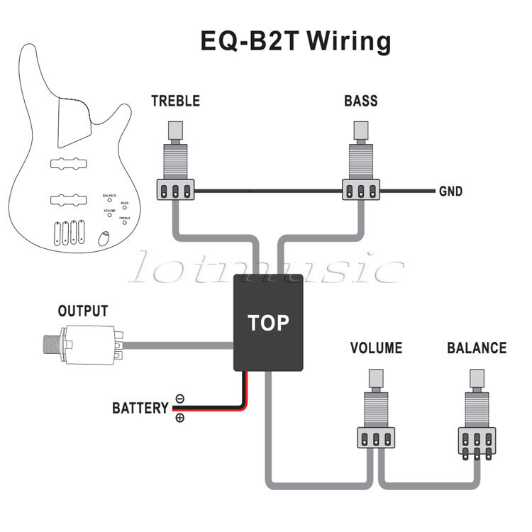Kmise A0988 Genuine Belcat 2 Band Active EQ Preamp Circuit for ...