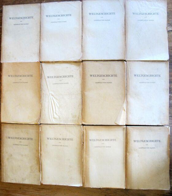 Buchband Leopold von Ranke 1928 - Weltgeschichte 12 Bücher Band 1 - 24