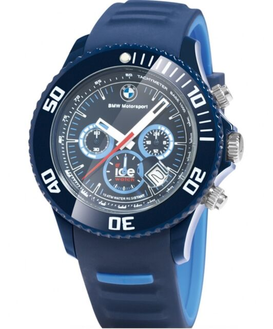 genuine bmw motorsport chrono ice watch in blue. Black Bedroom Furniture Sets. Home Design Ideas