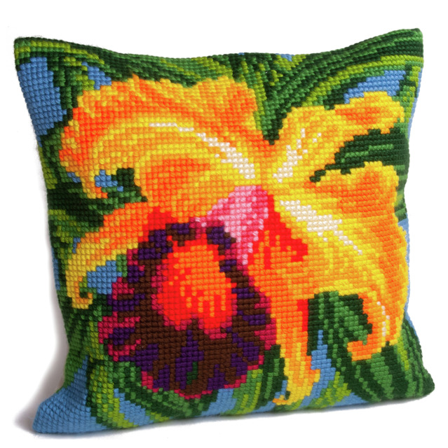 Collection dArt Paradise Orchid Cushion Cross Stitch Kit