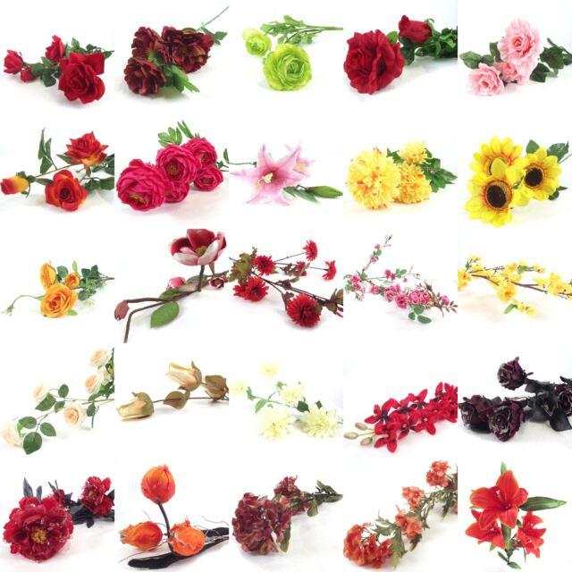 Bulk x assorted flower sprays artificial silk flowers wholesale bulk lot of 100x assorted flower sprays artificial silk flowers wholesale job mightylinksfo