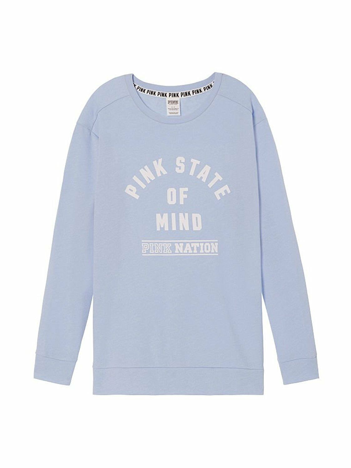 Victorias Secret Pink Nation State of Mind Oversized Crew ...