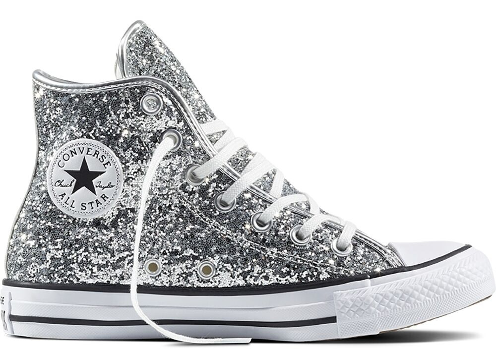 CONVERSE ALL STAR CTASHI PURE SILVER/WHITE/BLACK GLITTER 556817C