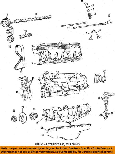 1984 1988 bmw 528e oil pan e28 11131286401 ebay rh ebay com bmw e28 engine diagram 1988 BMW 528E