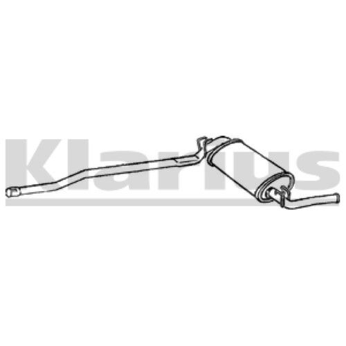 1x KLARIUS OE Quality Replacement Rear / End Silencer Exhaust For SEAT Petrol