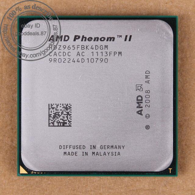 HDZ965FBK4DGM - AMD Phenom II X4 965 3.4 GHz Prozessor CPU AM3 100% working