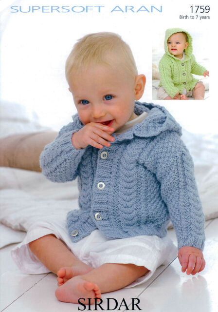 Sirdar 1759 Jackets in Sirdar Supersoft Aran to fit 0 to 7 years