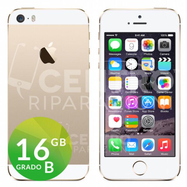 APPLE IPHONE 5S 16GB BIANCO ORO ORIGINALE GOLD GRADO B CON ACCESSORI E GARANZIA