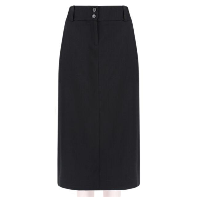 cdc873472e106 Michael Kors Black Tailored-Fit Calf Length Pencil Skirt US6 IT42 UK10