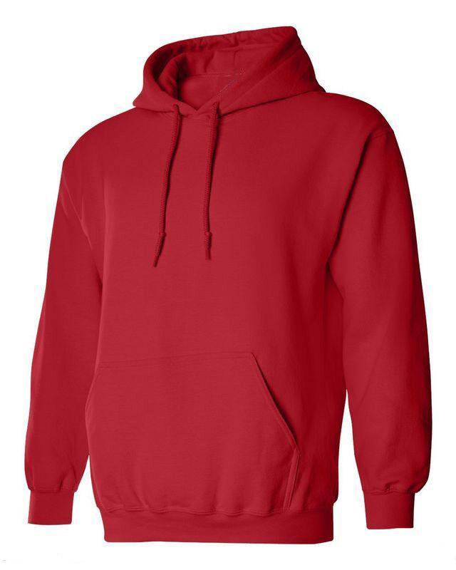 Hoodie Plain Blank Sweatshirt Men Women Hooded Pullover Fleece ...