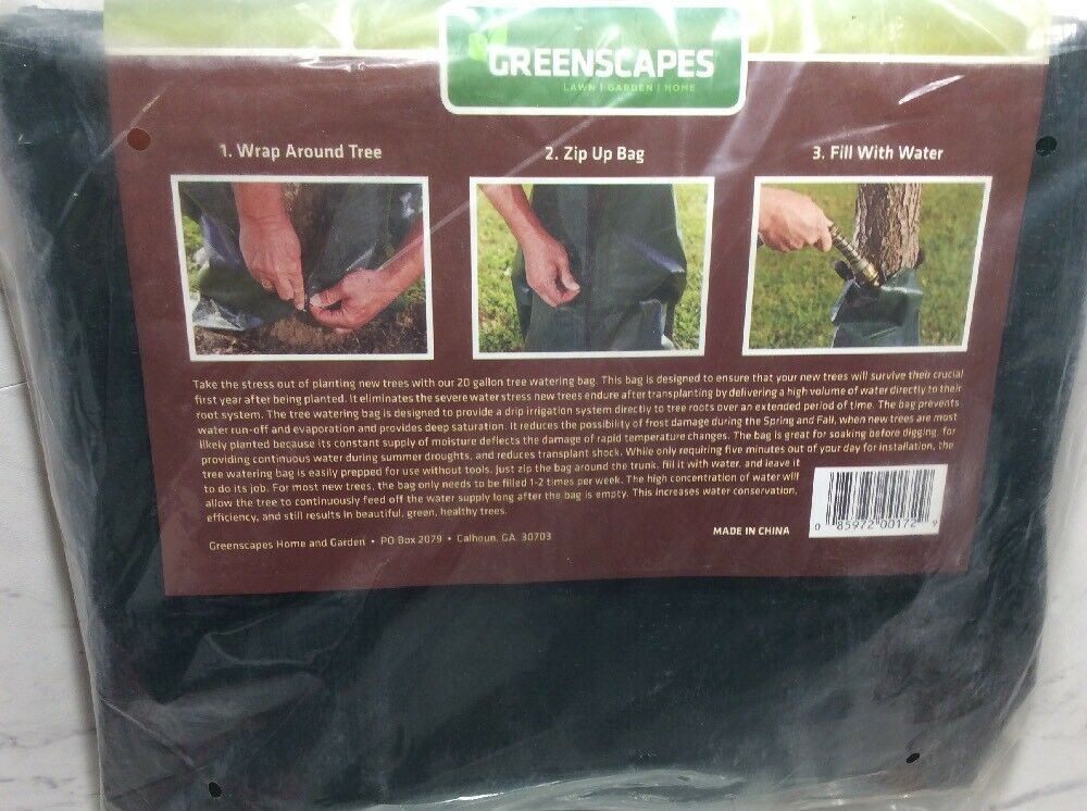 Greenscapes Tree Watering Bags Holds Up To 20 Gallons Of Water 201729 | EBay