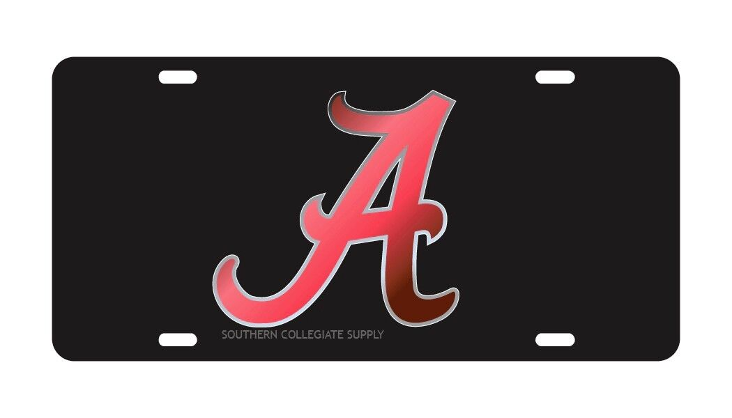 University of Alabama Black Mirrored License Plate / Car Tag | eBay