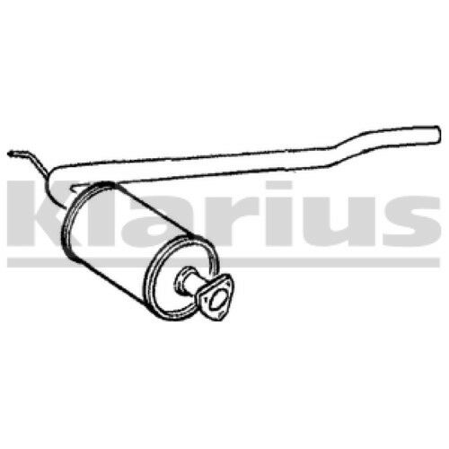 1x KLARIUS OE Quality Replacement Middle Silencer Exhaust For VW Diesel