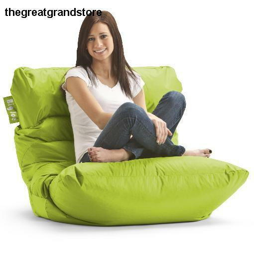 Bean Bag Chair Spicy Lime Big Joe Roma Dorm Room Gaming Chairs Microfiber Sack