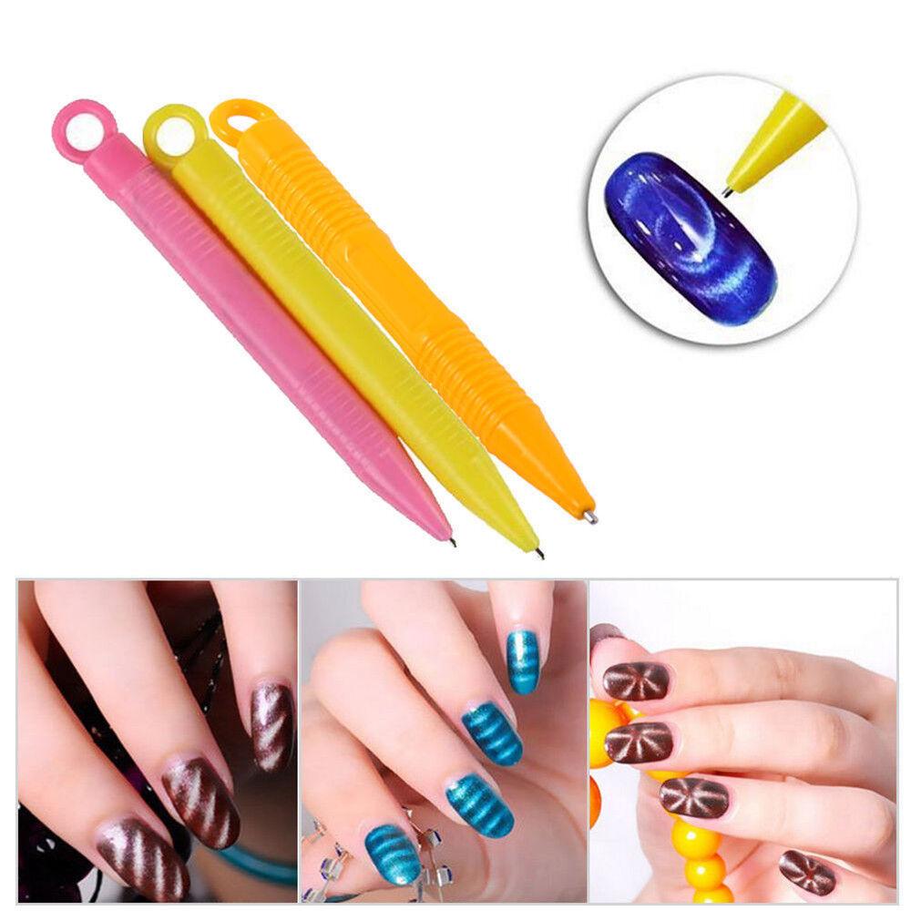 Magnet Pen Magnetic Stick Cat Eye GEL Polish UV LED Nail Art ...