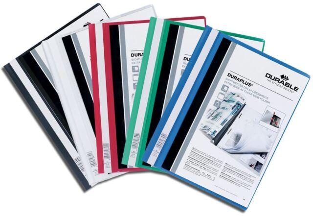 Durable Duraplus Extra Wide Presentation Folder - 25 Pack - Assorted Colours