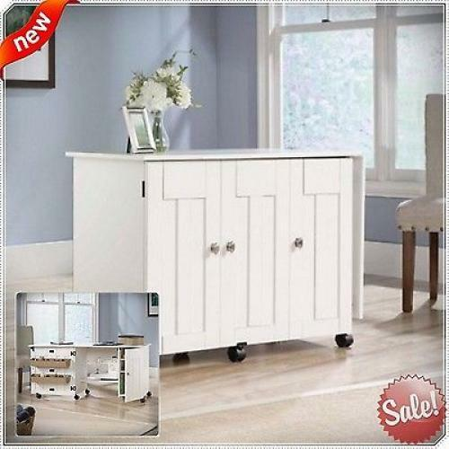 Sewing Machine Desk Table Craft Cabinet Drop Leaf Folding Wood Magnificent New Leaf Sewing Machine