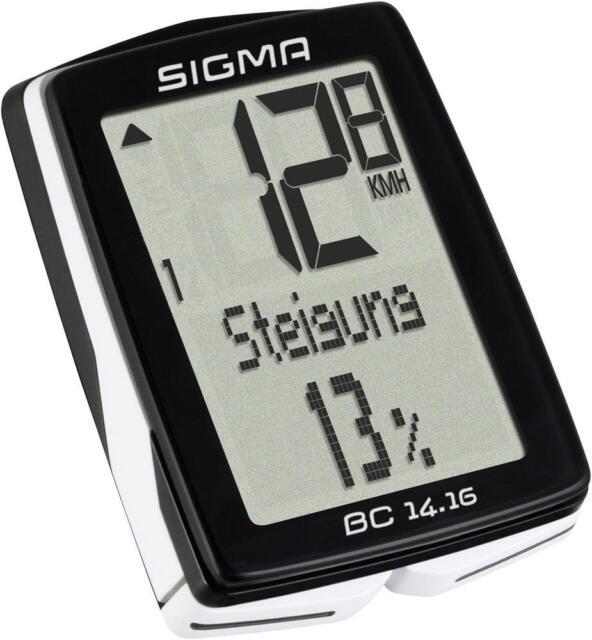 Fahrradcomputer Sigma BC 14.16 ALTI Kabelübertragung mit Radsensor