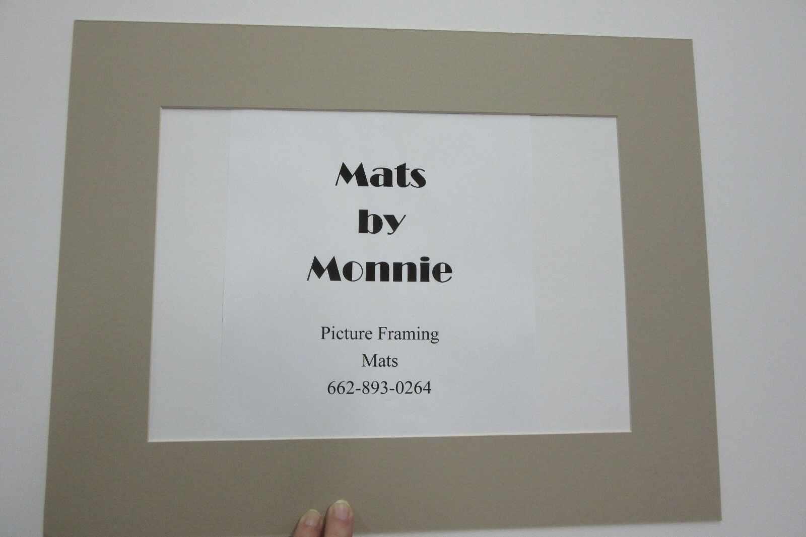 Picture Frame Mat Beige Custom 4x6 for 2.5x4 Photo | eBay