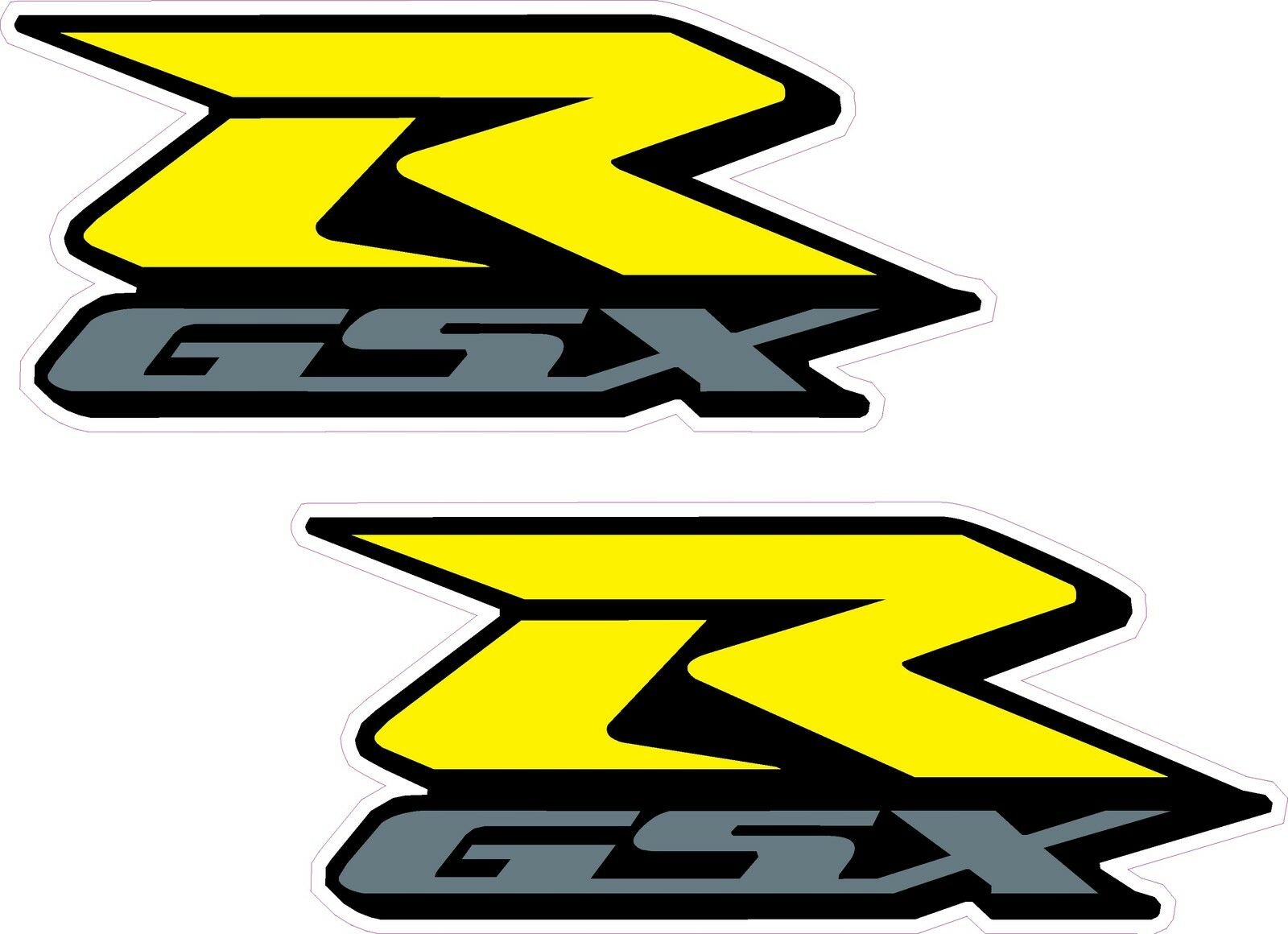X GSXR Suzuki Motorcycle Stickersyellow Silver Mm Decals - Suzuki motorcycles stickers
