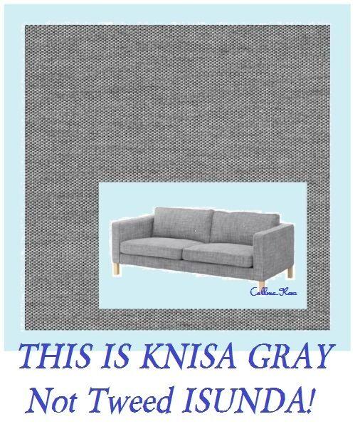 IKEA Karlstad 3 Seat Sofa Cover Knisa Light Gray Slipcover similar