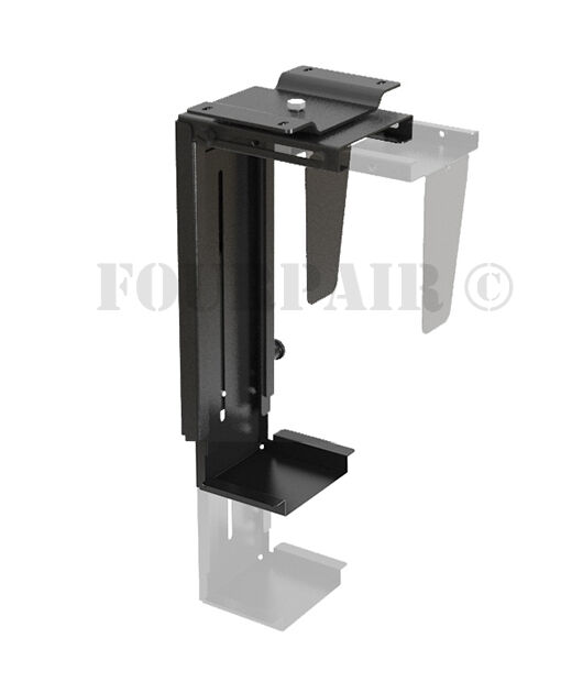 Adjustable Wall or Under Desk CPU PC Computer Case Tower Swivel
