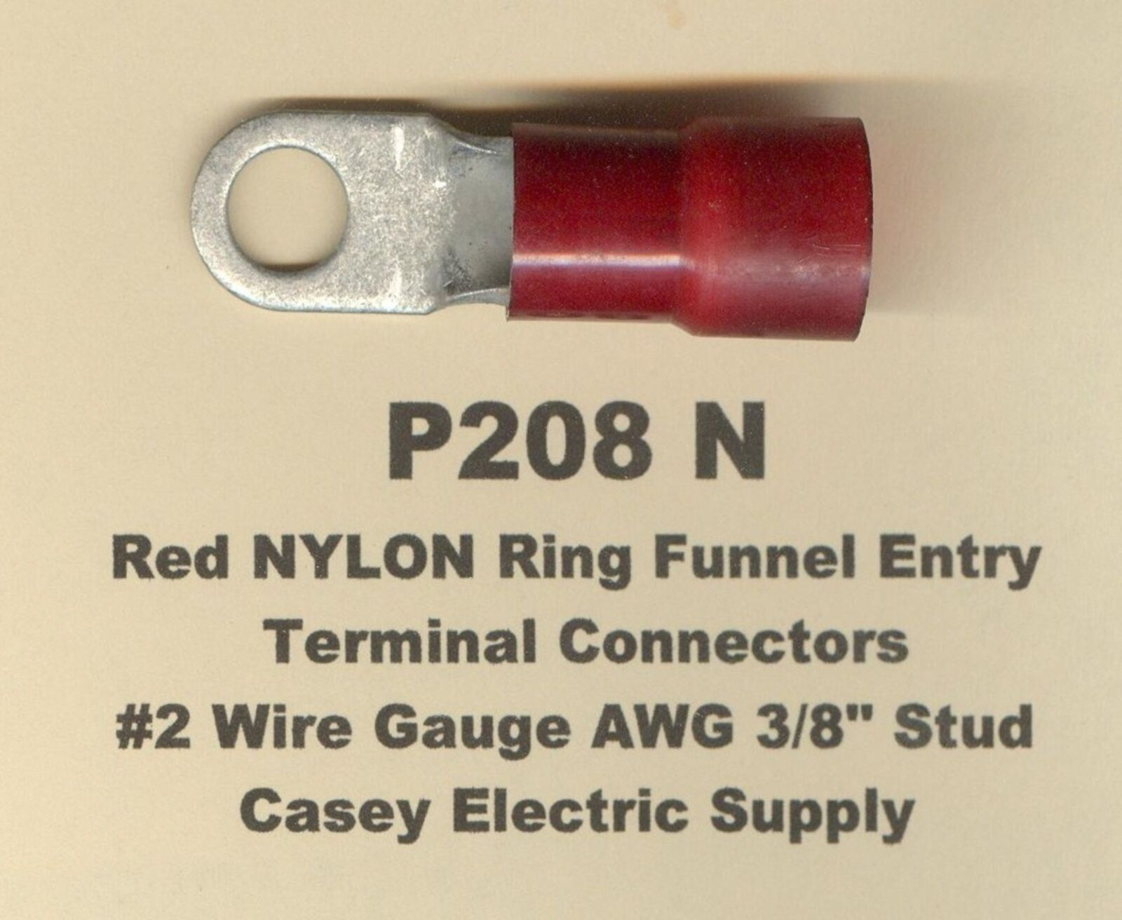 5 red nylon insulated ring terminal connectors 2 wire gauge awg 38 picture 1 of 2 greentooth Images