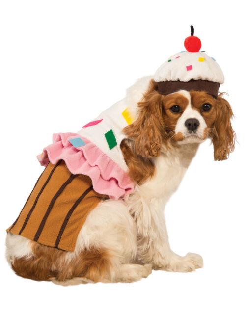 Cupcake Cake Pet Food Dessert Funny Dog Cat Halloween Costume  sc 1 st  eBay & Rubieu0027s Cupcake Dog Halloween Costume Medium | eBay
