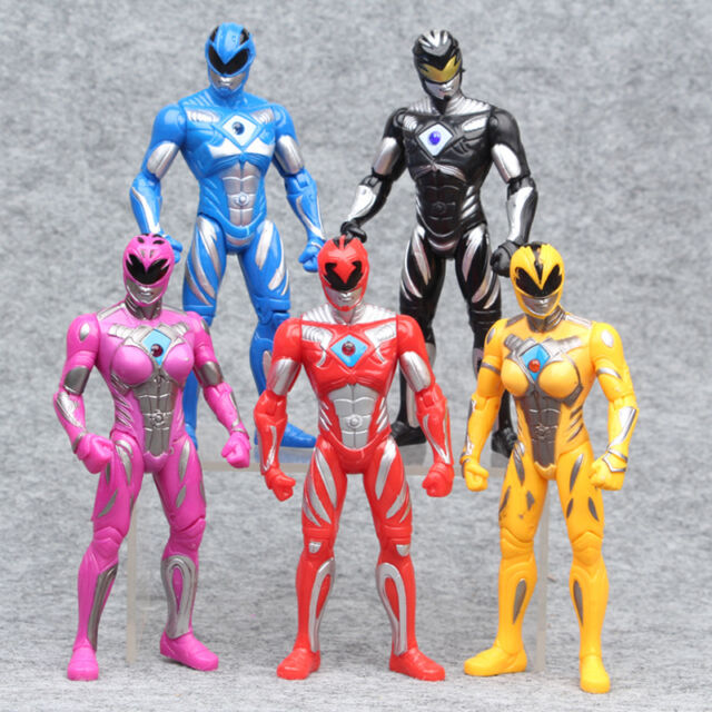 Best Power Ranger Toys And Action Figures : Power rangers the movie cm action figures pc set