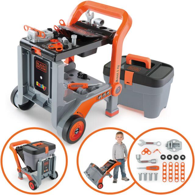 Smoby Black & Decker 3in1 Multi-Werkbank und Werkzeugkoffer
