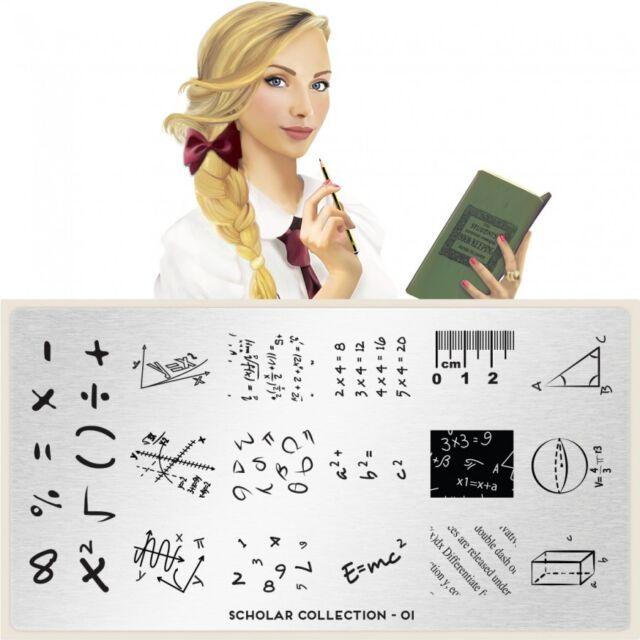 MoYou London SCHOLAR 1 Collection Stamping Schablone, Mathe Zahlen Schrift