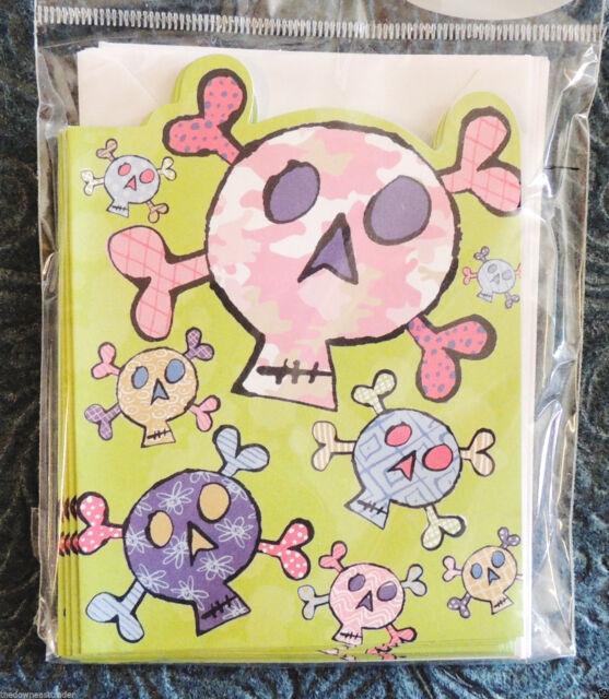 10 feminine skull crossbones blank note cards w envelopes 10 feminine skull crossbones blank note cards w envelopes american greetings m4hsunfo