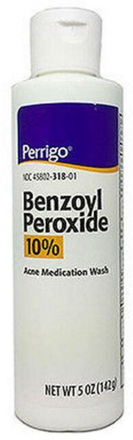 Perrigo Benzoyl Peroxide 10 Acne Wash 5oz Bottle eBay