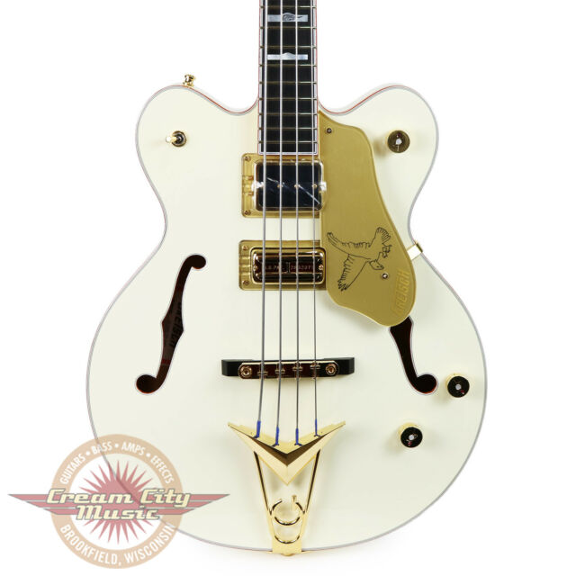 Brand New Gretsch G6136B TP AWT Tom Petersson Signature White Falcon Bass