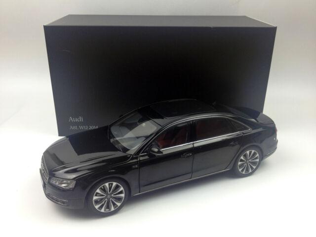 Marvelous Kyosho 1:18 Audi A8L W12 2014 Phantom Black Diecast Metal Model Car 09232BK
