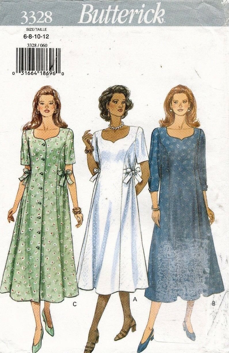 Butterick misses petite maternity dress pattern 3328 size 6 12 picture 1 of 2 ombrellifo Image collections