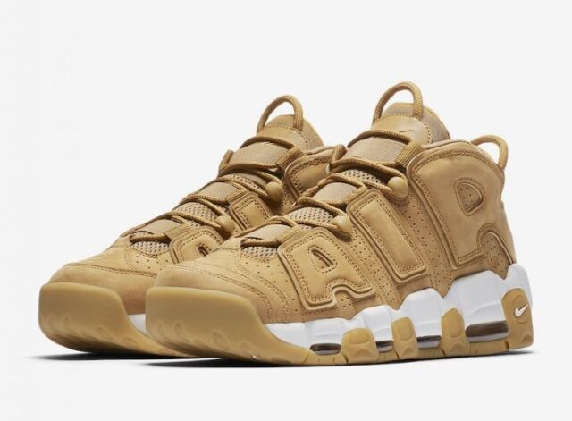 NIKE AIR MORE UPTEMPO PREMIUM Classic AA4060-200 Flax Gum Light Brown Fashion WHEAT get