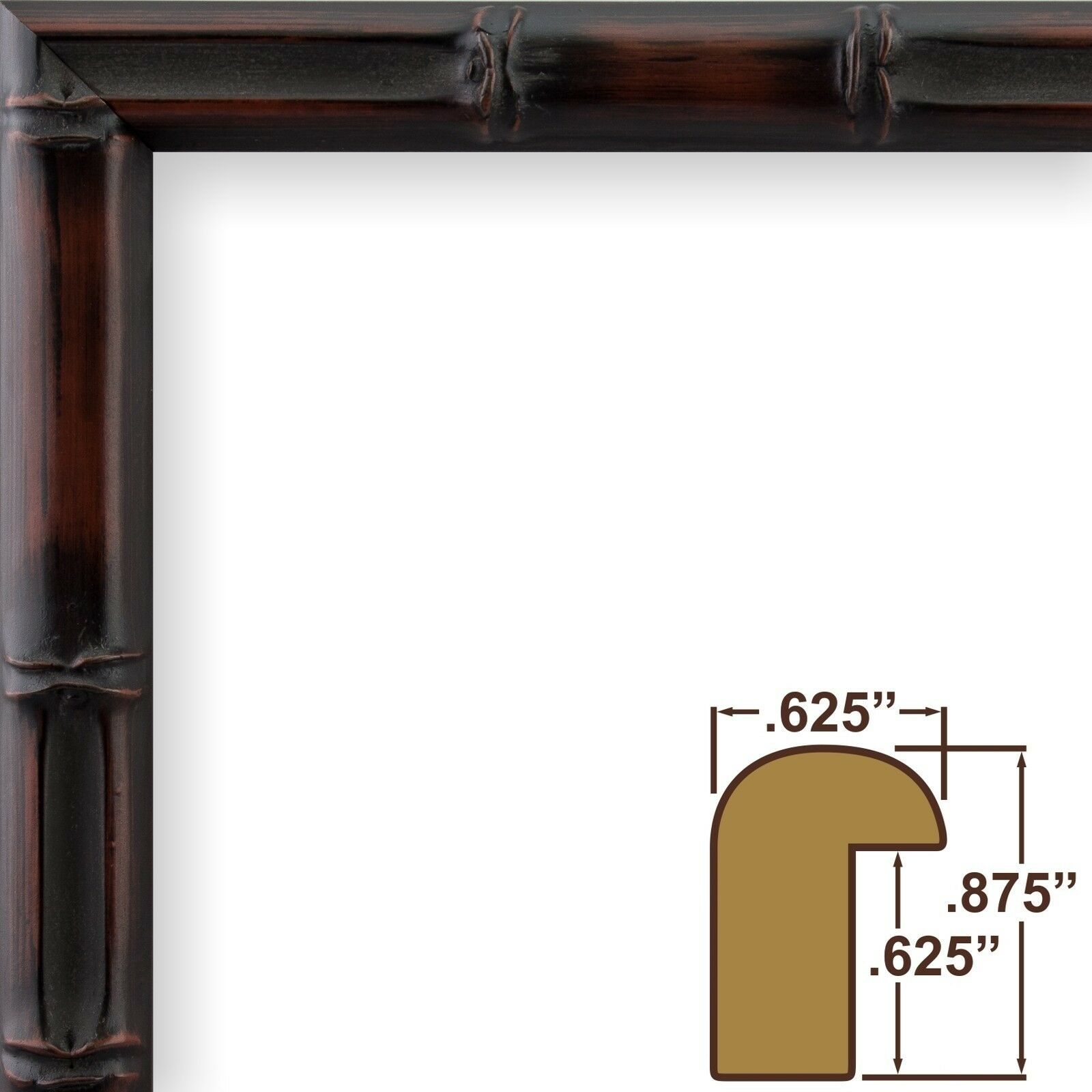 Craig frames vintage bamboo composite wood picture frame 18x24 ebay picture 1 of 11 jeuxipadfo Gallery