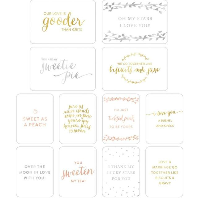 Project Life Southern Weddings Specialty Card 12 Pk Scrapbooking
