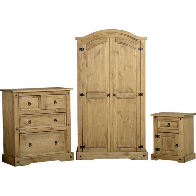 Corona pino muebles de dormitorio juego madera maciza armario pecho ...