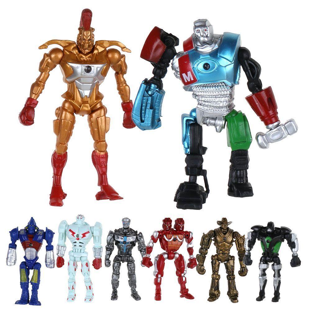 8x real steel atom midas noisey boy zeus 13cm pvc action figure set